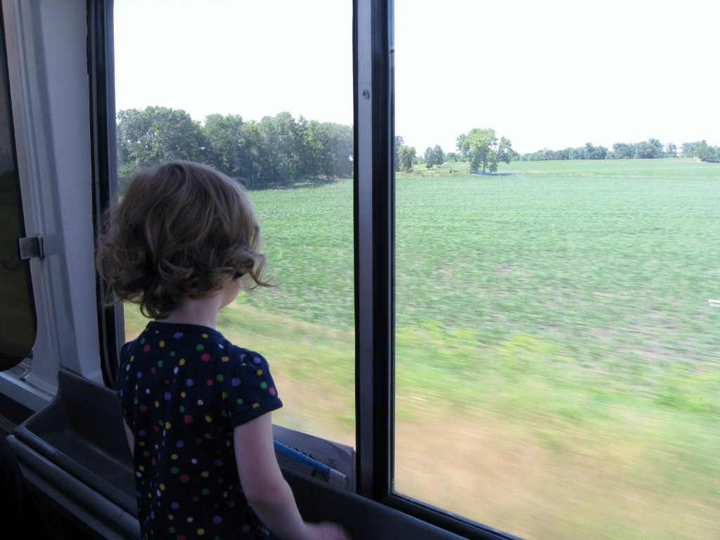 South-central Wisconsin riding amtrak with kids