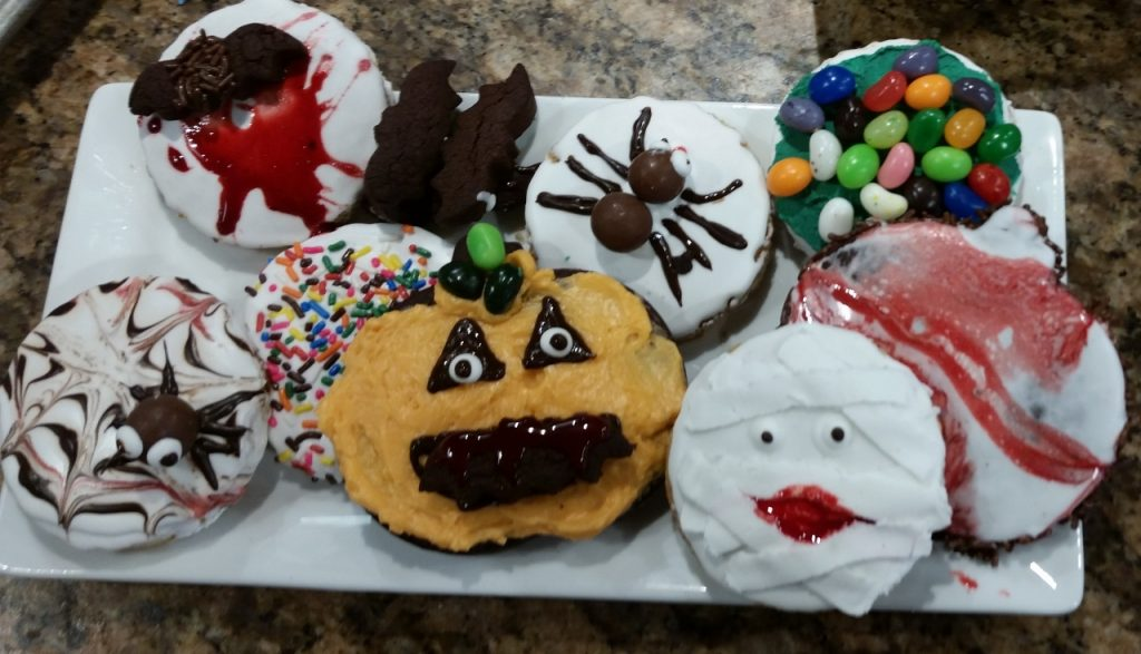 Homemade Sugar Cookies, decorated for Halloween