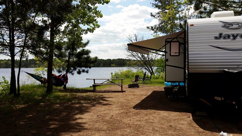 Camping on the water