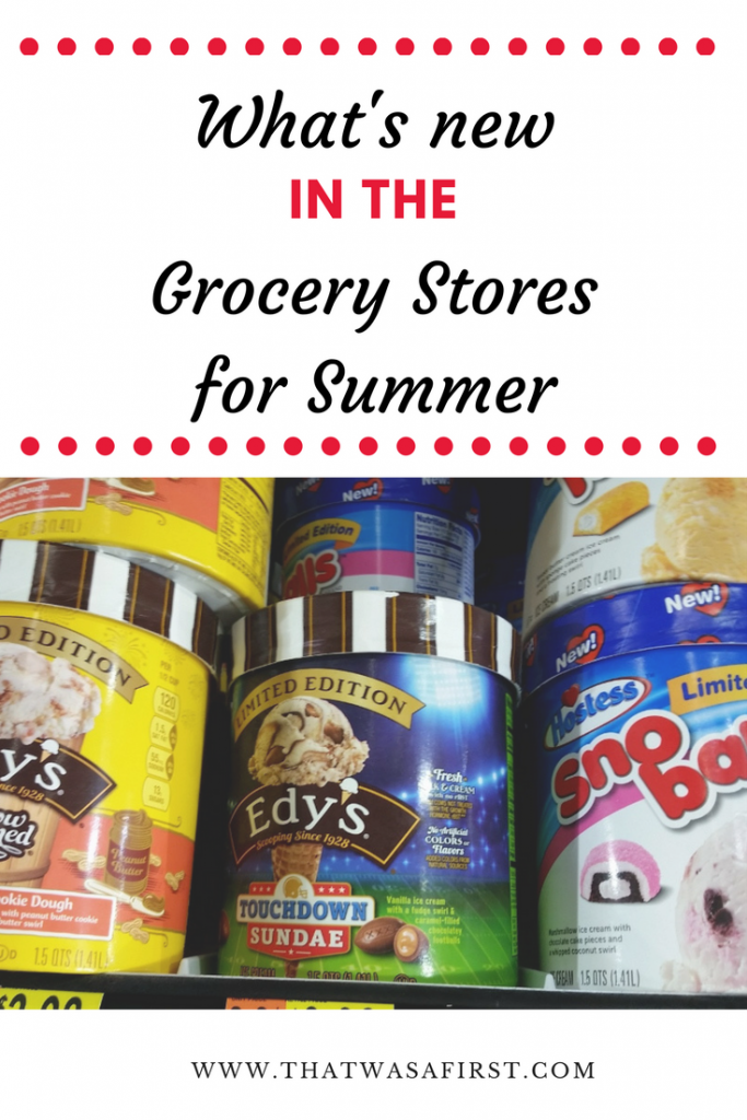 It's summer, and that means a ton of new food options are hitting the grocery store shelves! New flavors of ice cream, popsicles, drinks, snacks and more! Here's what's new in the grocery stores for summer.