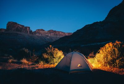 camping in the hills