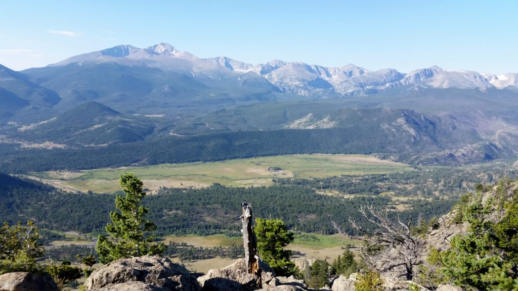 Longs Peak and Moraine Park outside of Estes Park