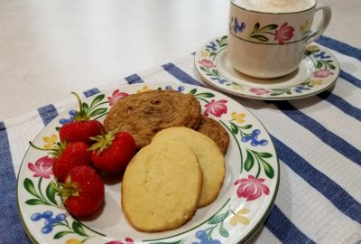vanilla ice box cookies and coffee toffee cookies