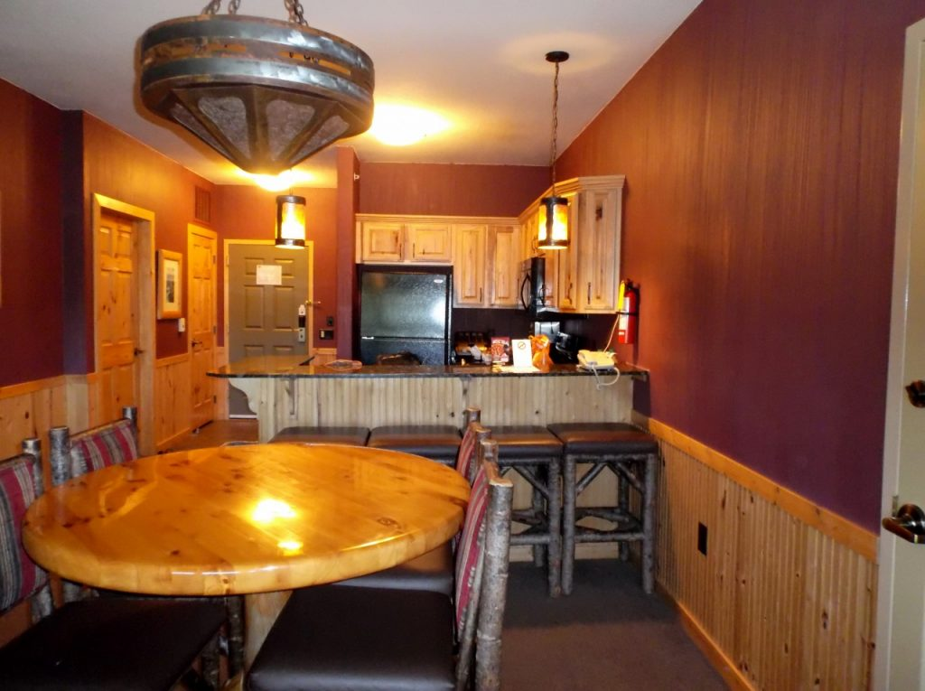 Glacier Canyon Lodge room at Wilderness Resort Wisconsin Dells