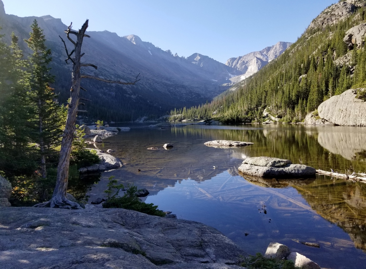 Hiking to Mills Lake in Rocky Mountain National Park