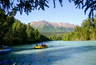Kenai River Rafting family vacation Alaska