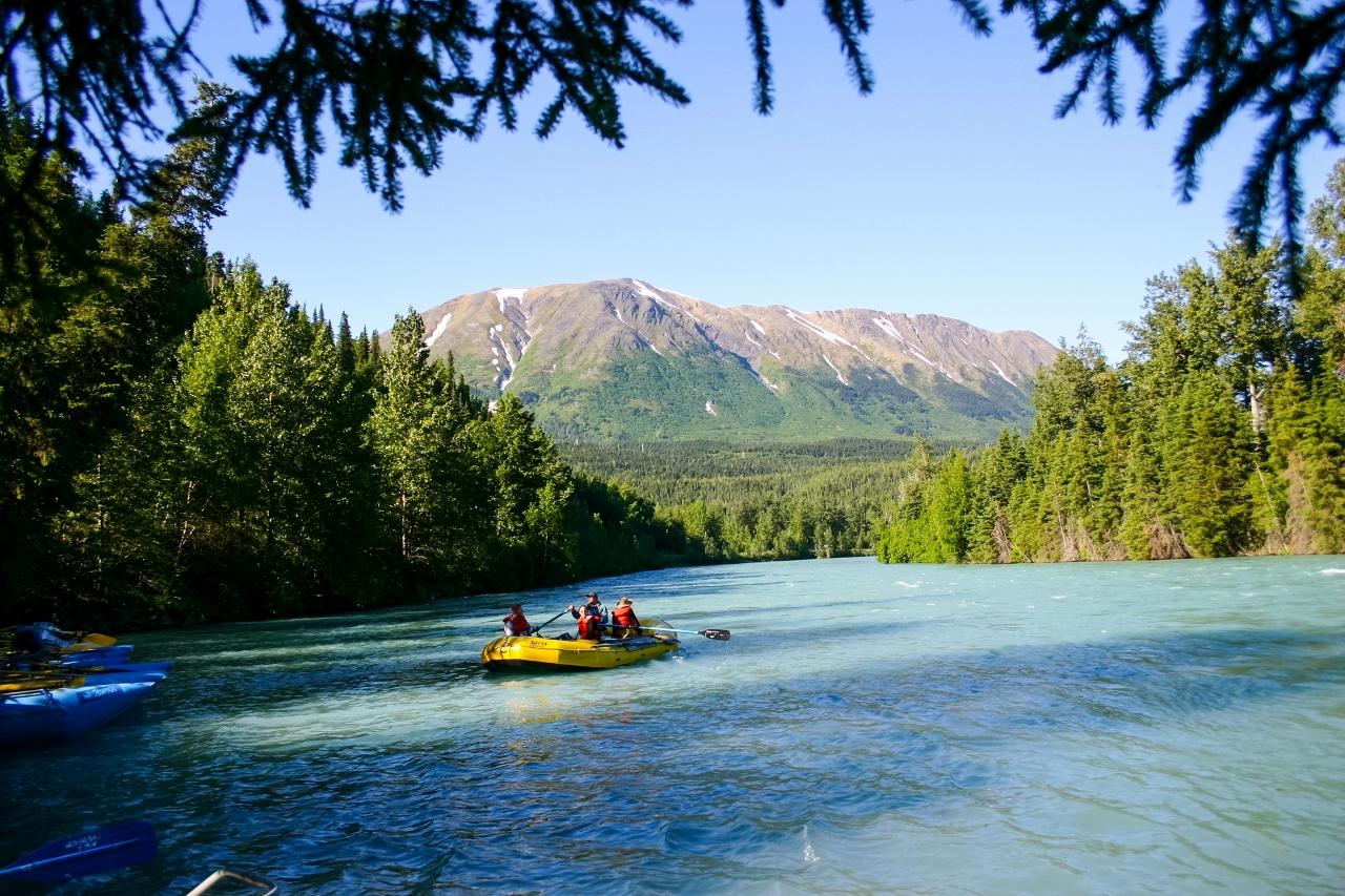 Kenai River Rafting family vacation Alaska
