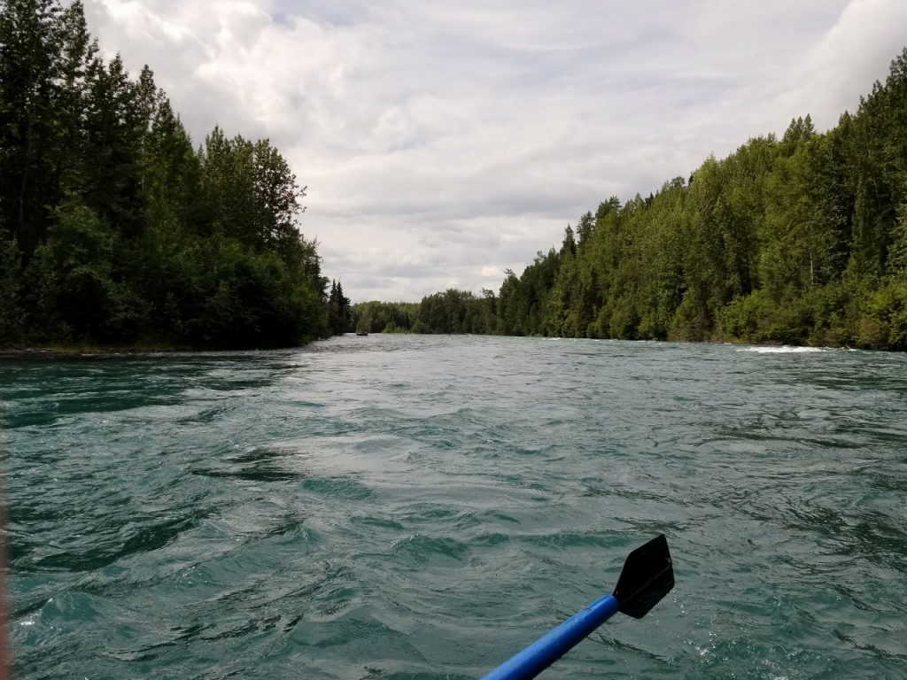 River rafting on the Upper Kenai River Alaska