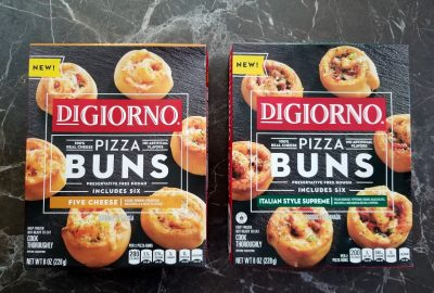 Pizza buns from the frozen foods aisle