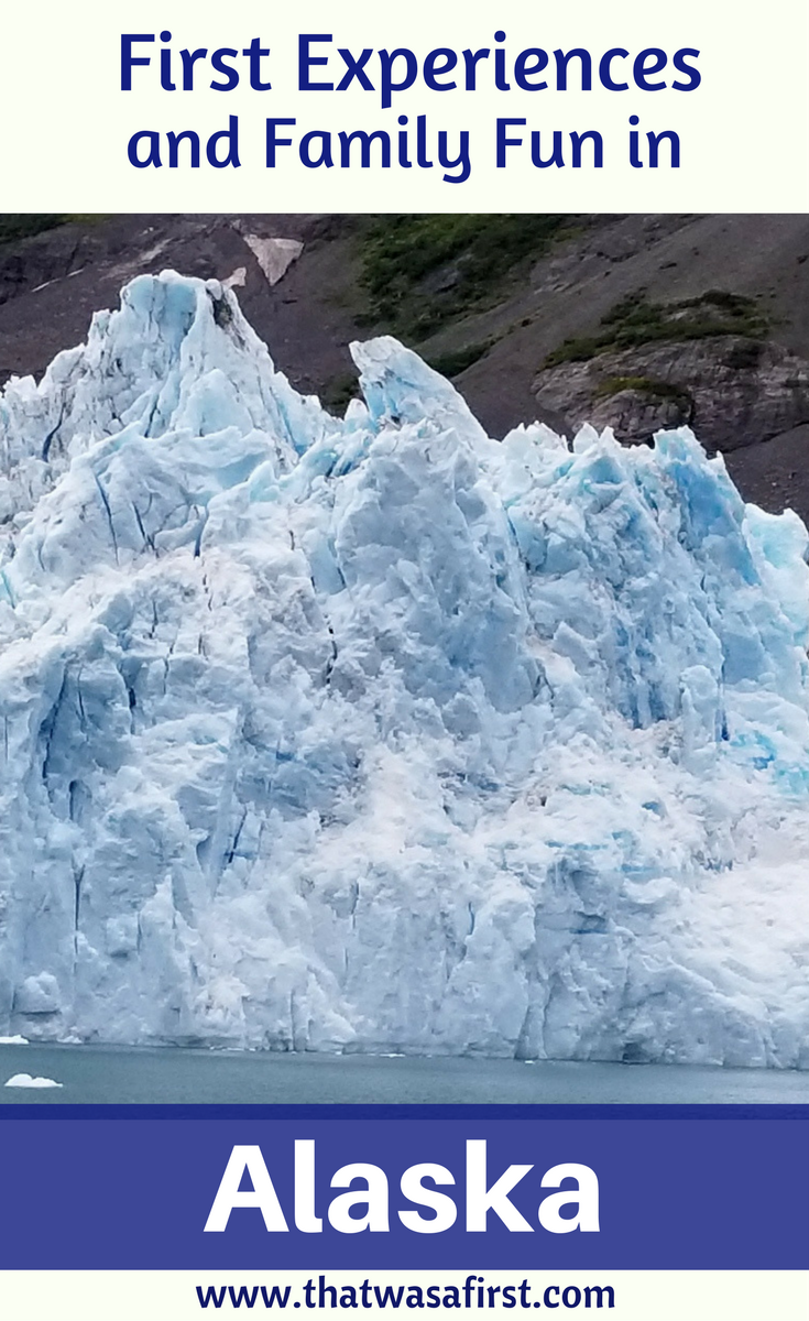 Alaska is a great place to visit for a family vacation and full of first experiences! Food, scenery, puppies, glaciers, and fishing means there is fun for everyone!