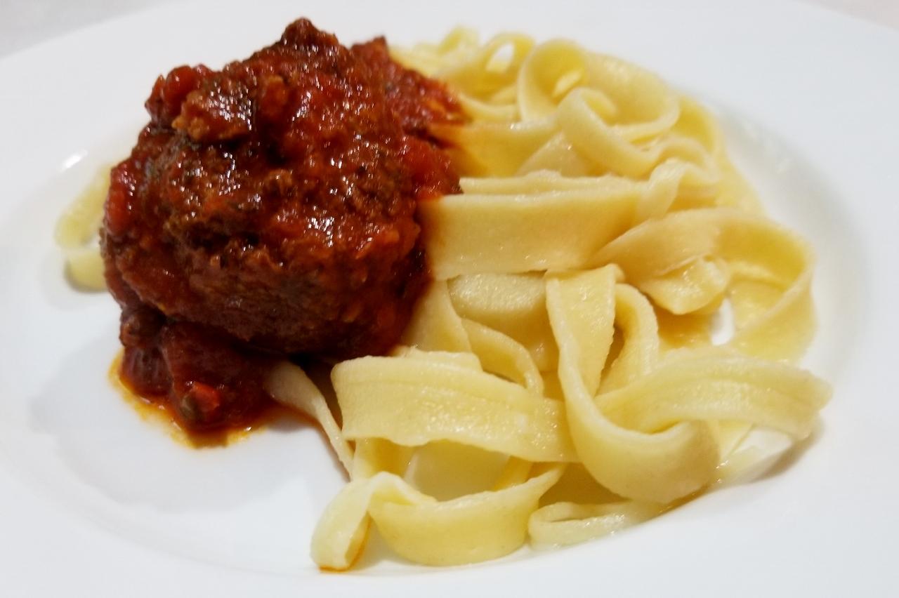 homemade pasta and sauce