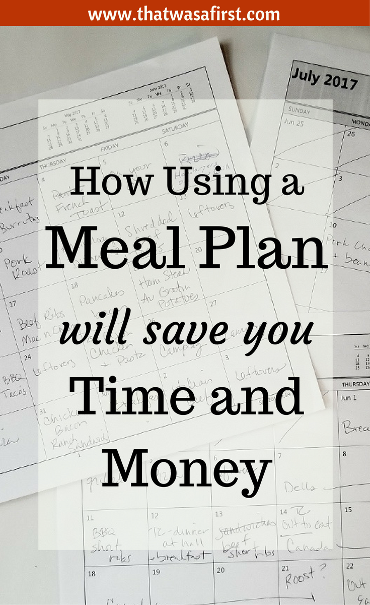 Using a meal plan will save your busy weeknights. It will also save you time and money!