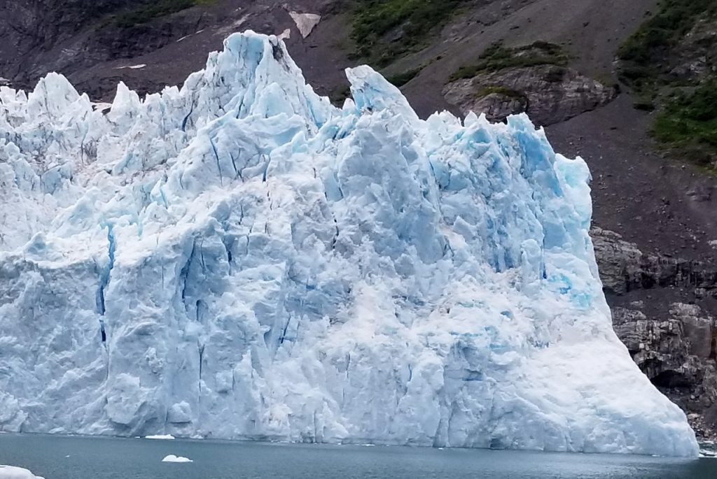 Surprise glacier from boat tour Whittier Alaska