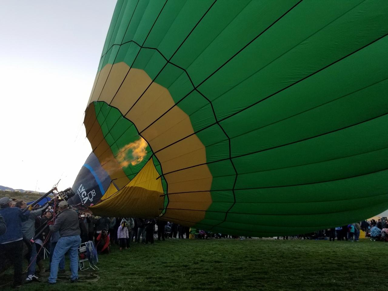 Filling the balloon at the Albuquerque Balloon Fiesta