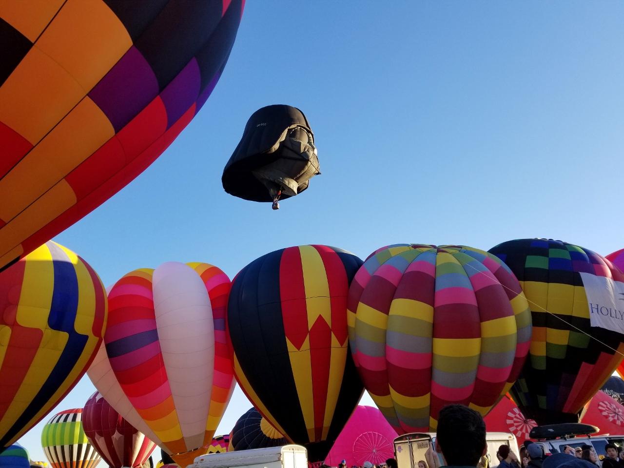 Darth Vader balloon at the Fiesta