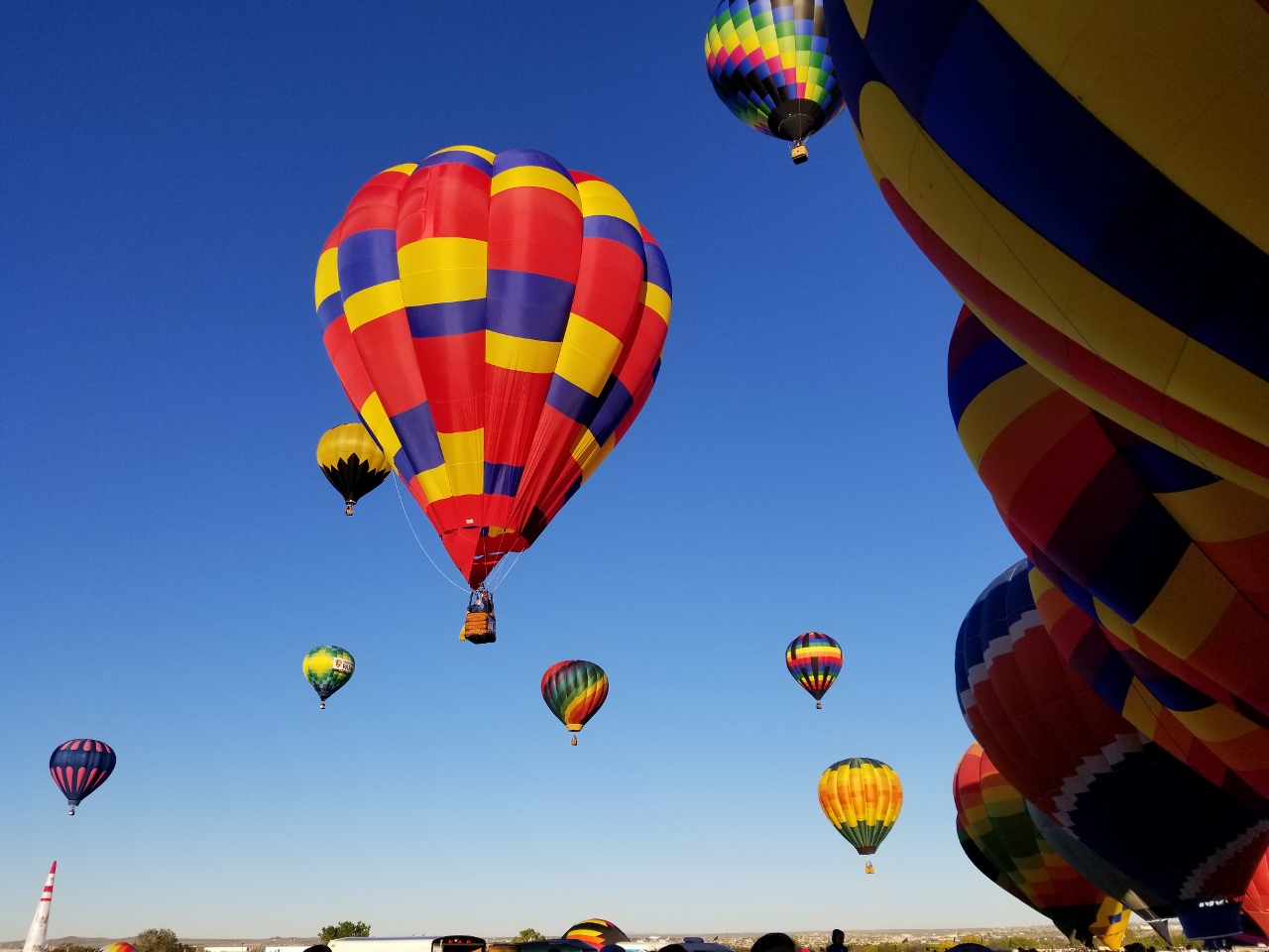 The colorful Albuquerque Balloon Fiesta