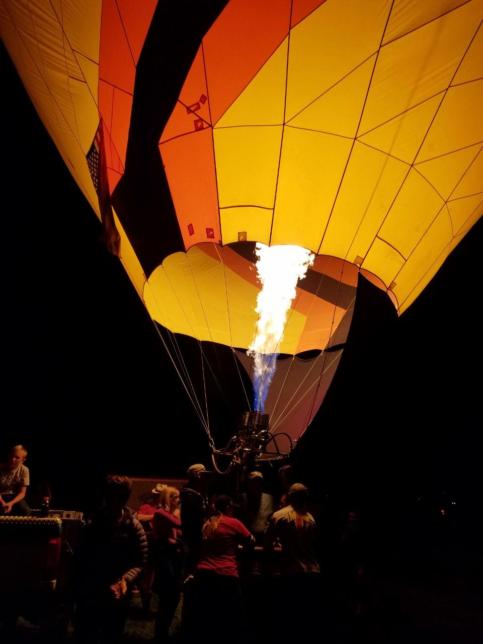 Balloon Glow at the Albuquerque Balloon Fiesta