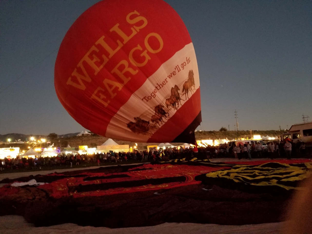 The Wells Fargo Balloons at the Fiesta