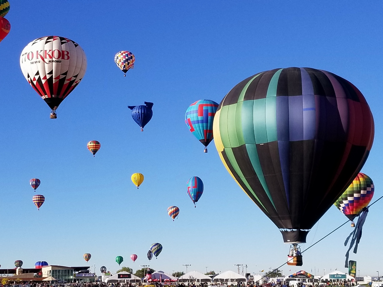 The hot air balloons in New Mexico