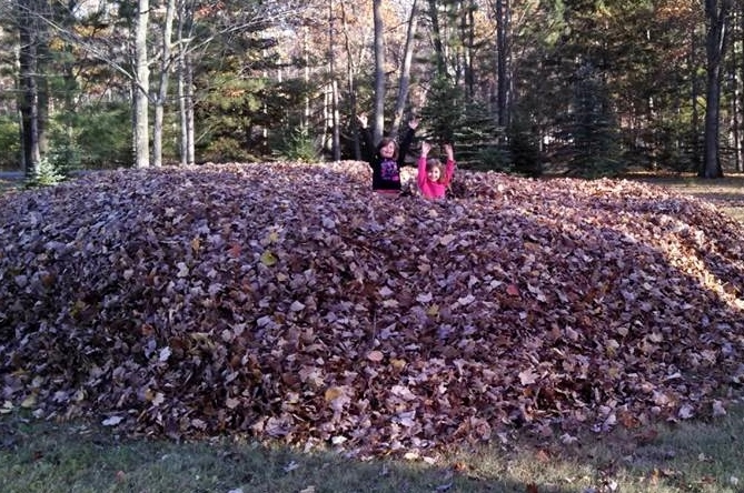 jumping in leaves is one of the fall activities for family fun