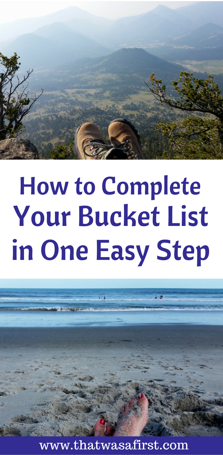 Are you ready to turn your bucket list of dreams into realtiy? All it takes is one easy step to get started!