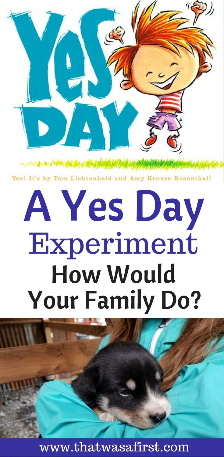 What would your family do on a Yes Day?  Do you tell them it's a Yes Day or not?  Why not experiment?