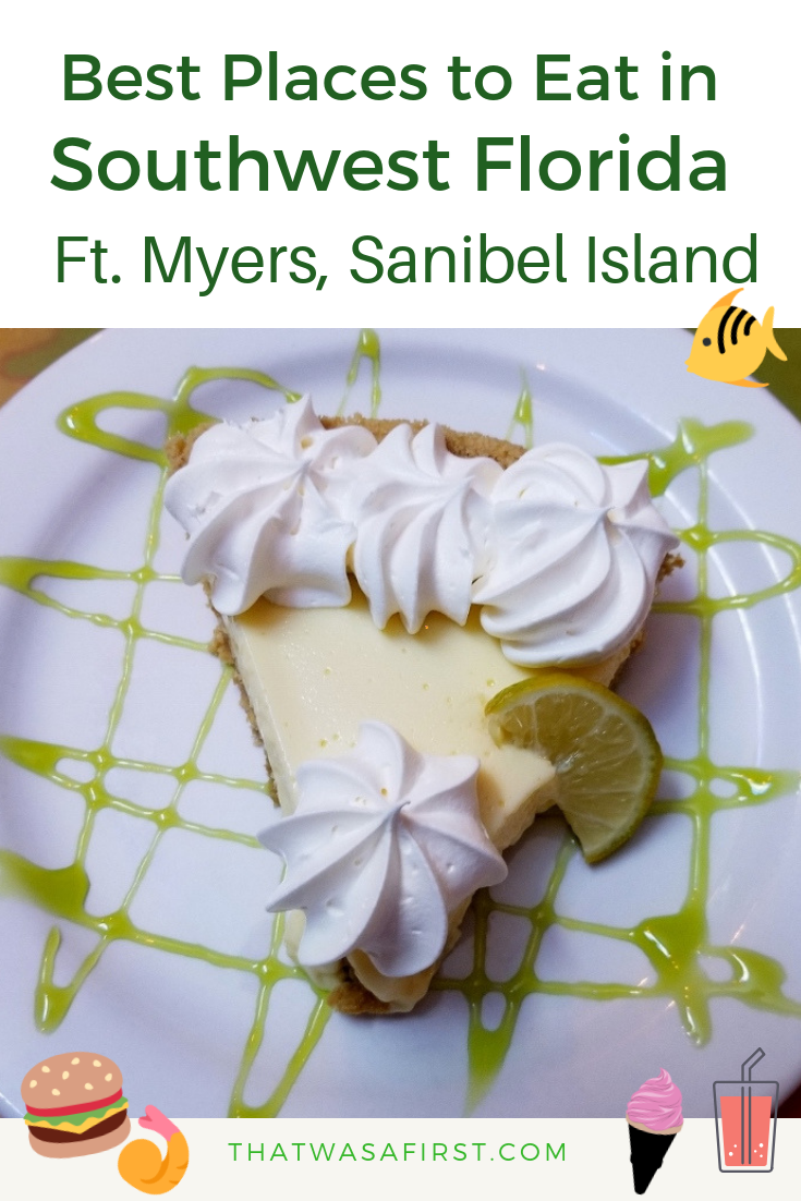 Your family doesn't want to miss eating at these fantastic restaurants while in Southwest Florida!  Here's where to eat in Ft. Myers, Bonita Springs and Sanibel Island! #florida #familytravel #thatwasafirst #wheretoeat