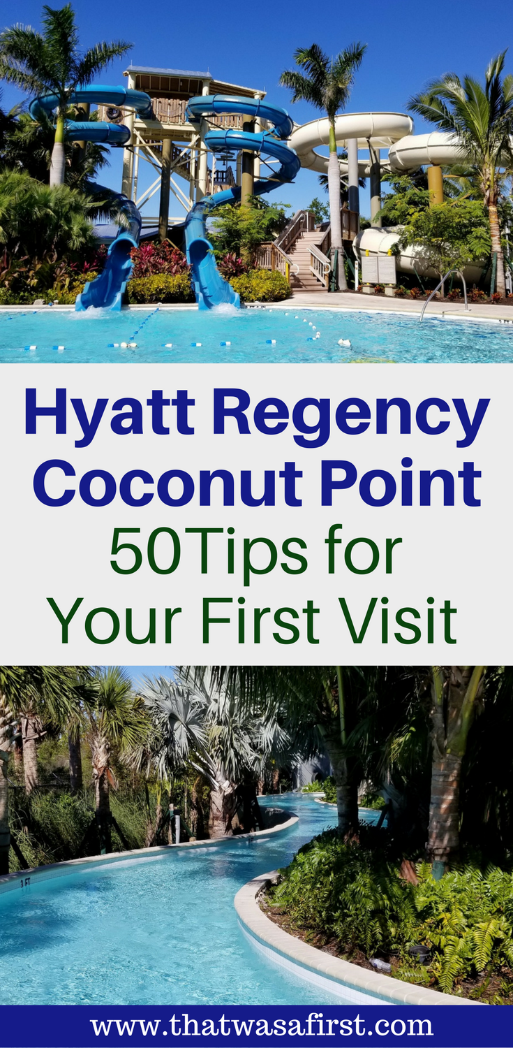 Are you planning a trip to the Hyatt Regency Coconut Point in Florida? Here are tips about the hotel, rooms, water park, and private island. #Florida