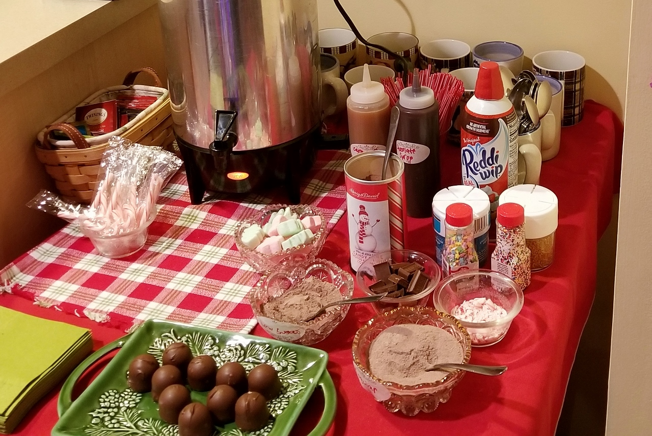 Hot cocoa bar winter activities for family fun