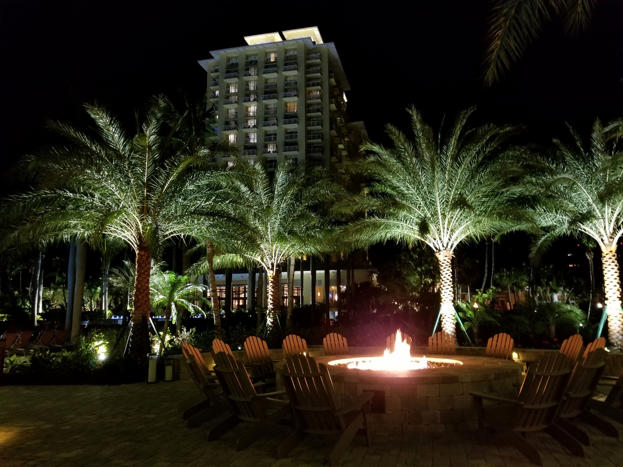 Fire pits at Hyatt Regency Coconut Point
