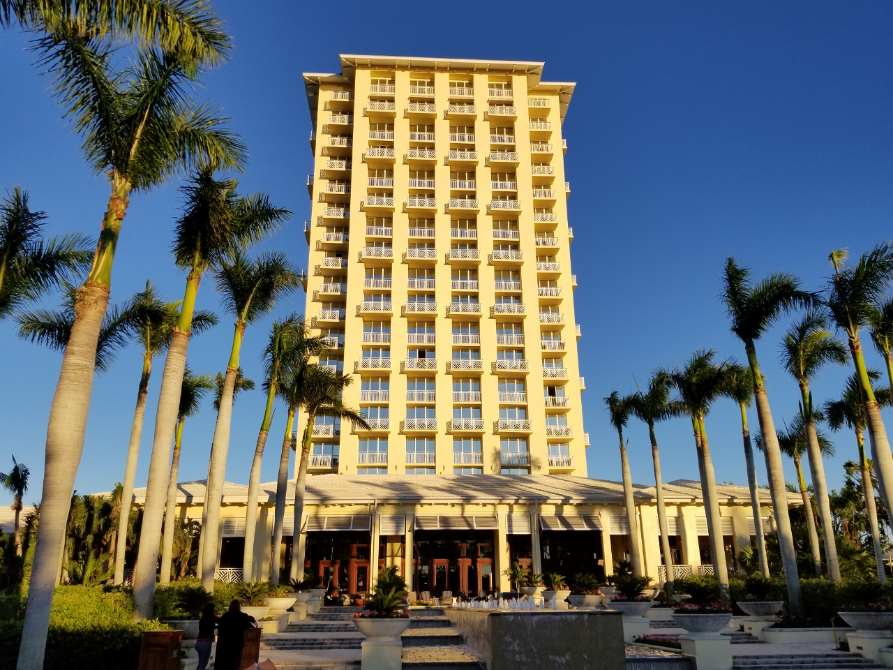 The outside of the Hyatt