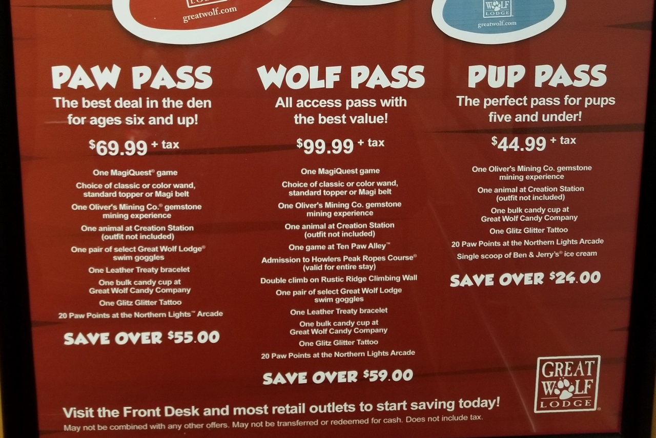 saving money on activities at great wolf lodge