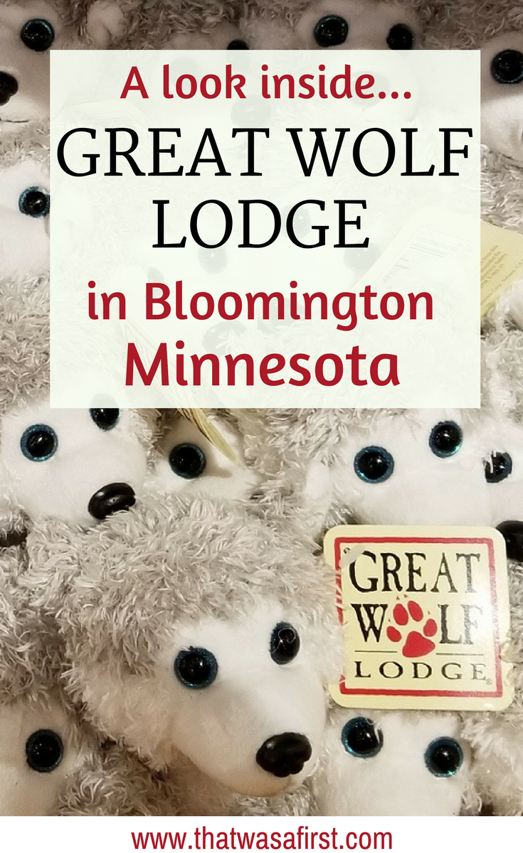 Are you wondering what's inside the Great Wolf Lodge in Bloomington Minnesota? Here is a photo tour of the water park, room, and activities. #GreatWolfLodge