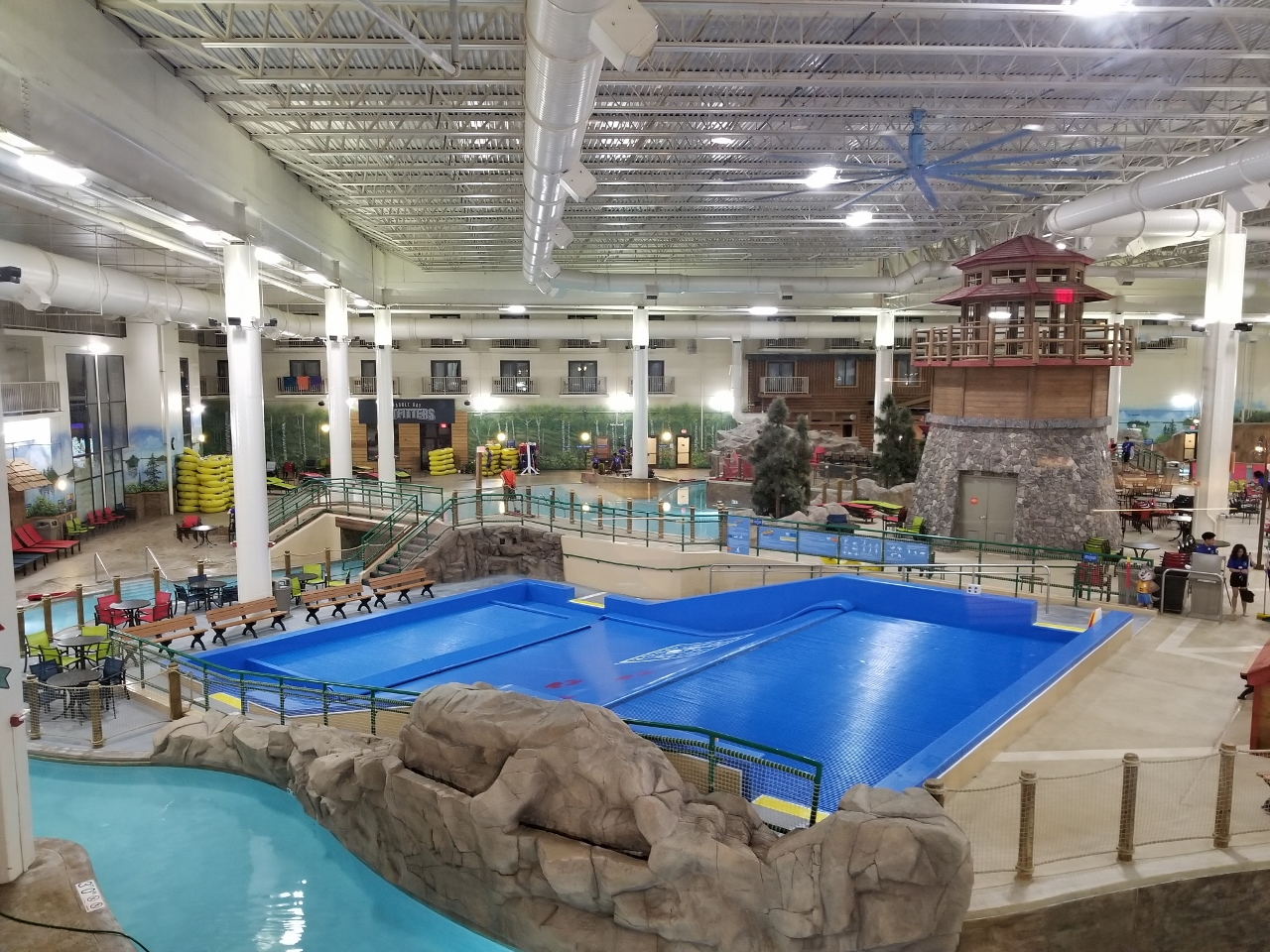 The indoor water park at great wolf lodge in bloomington minnesota