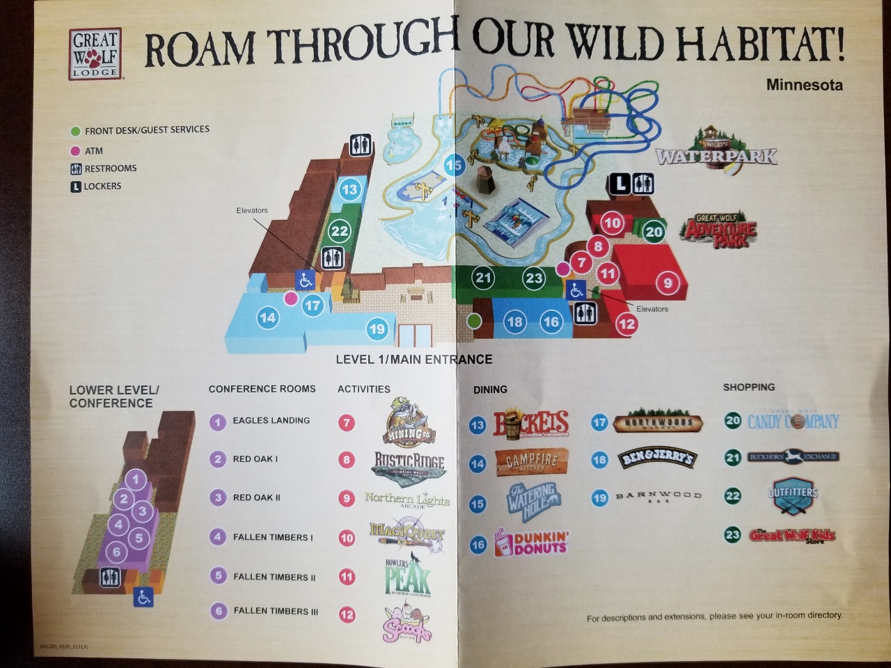 the map of great wolf lodge in bloomington minnesota