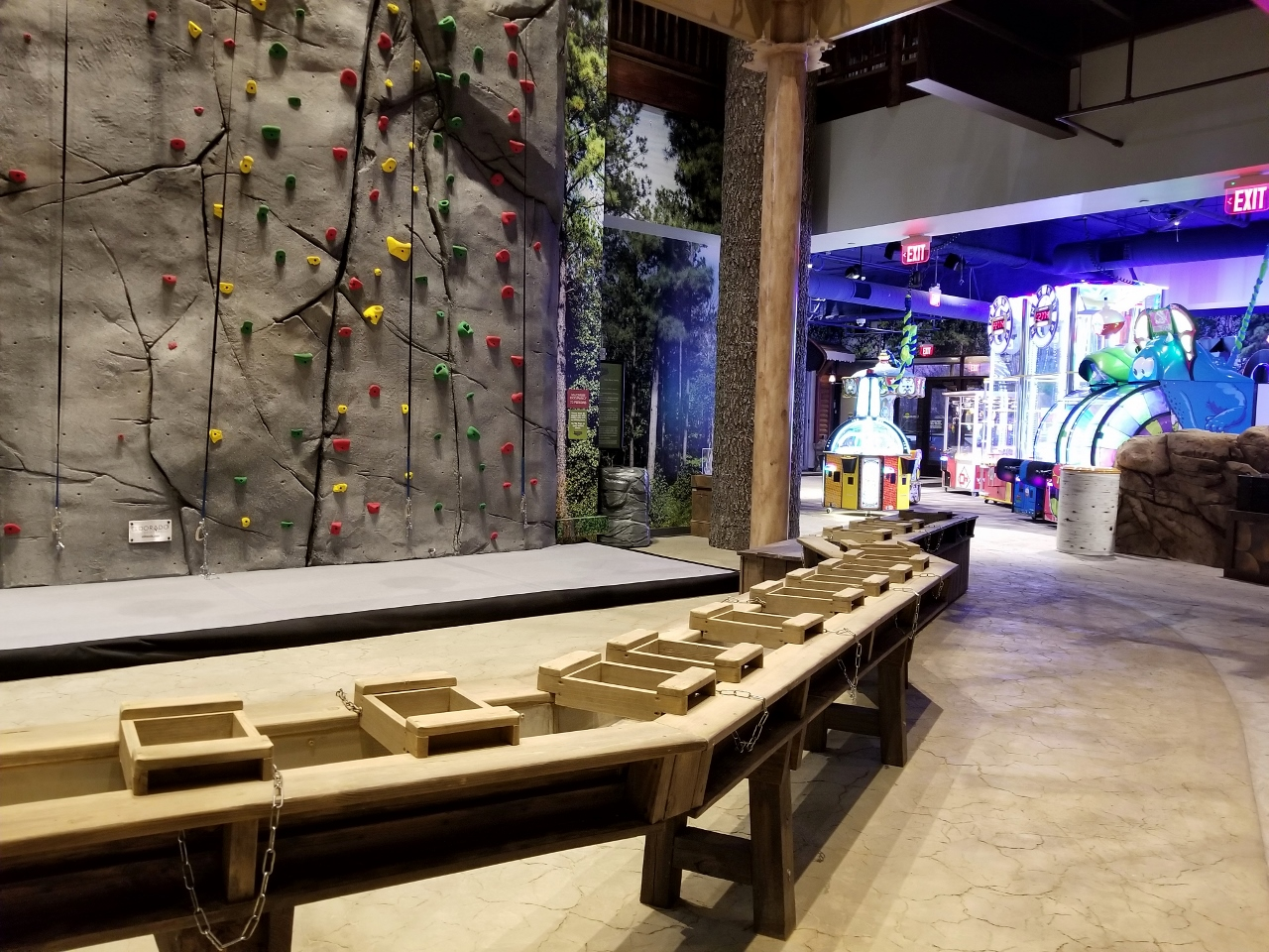 The climbing wall at great wolf lodge in bloomington minnesota