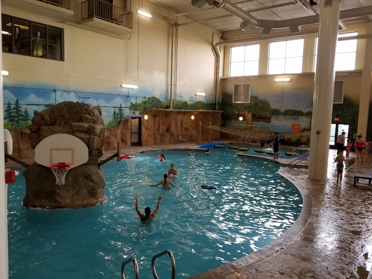 Activity pool at great wolf lodge in bloomington minnesota