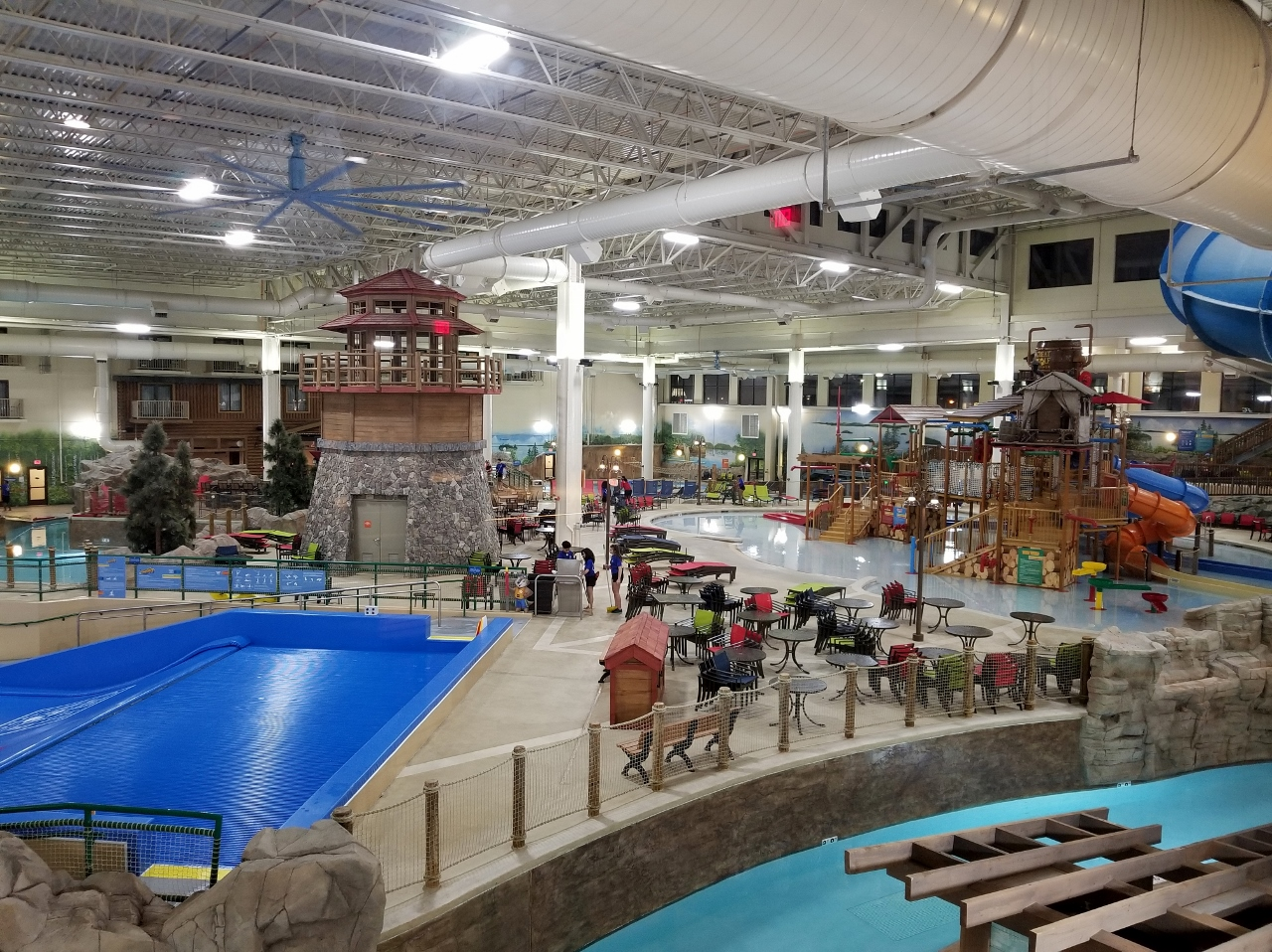 The kids area at the water park at great wolf lodge in bloomington minnesota