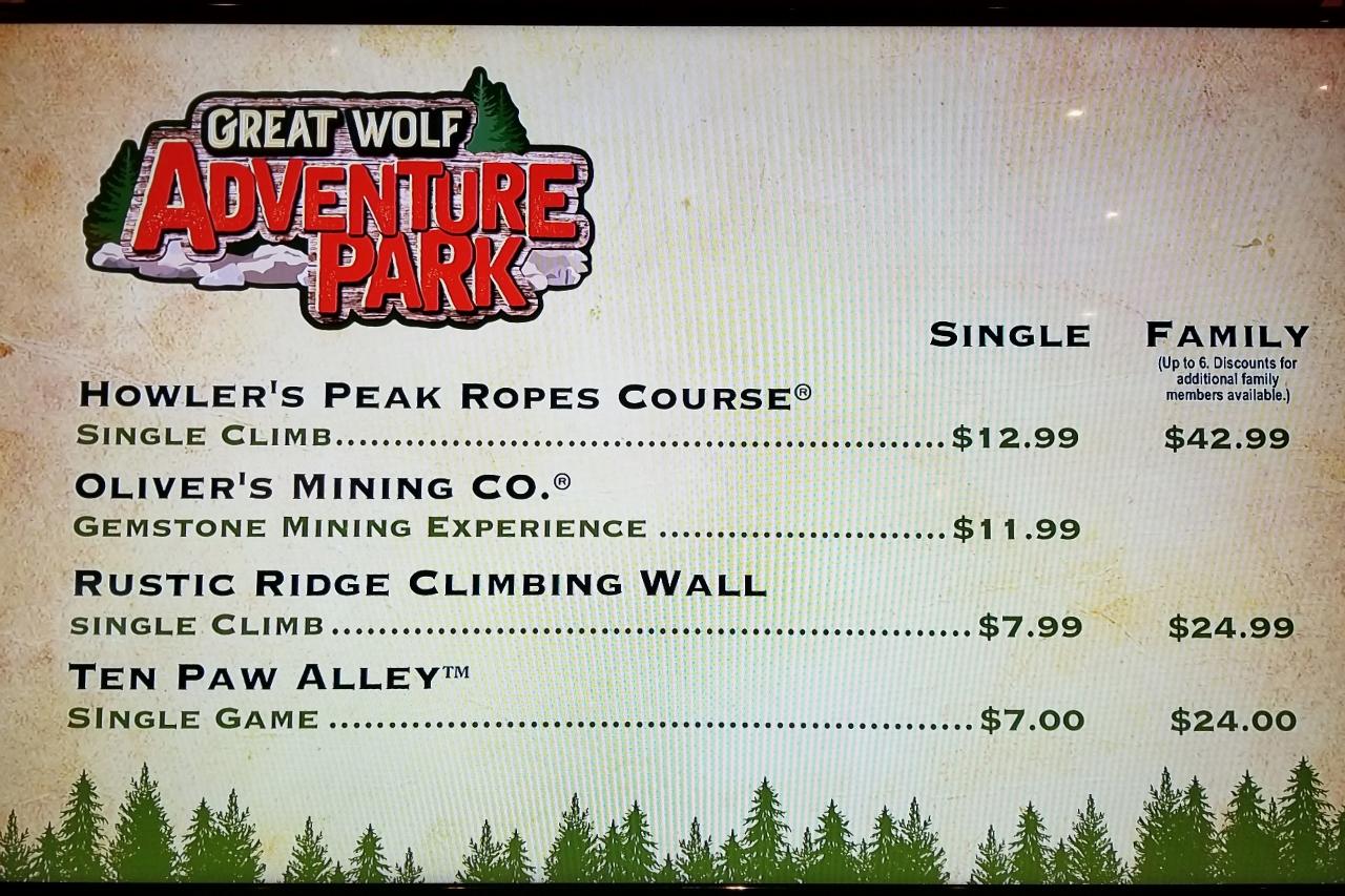 Adventure Park Great Wolf Lodge Minnesota