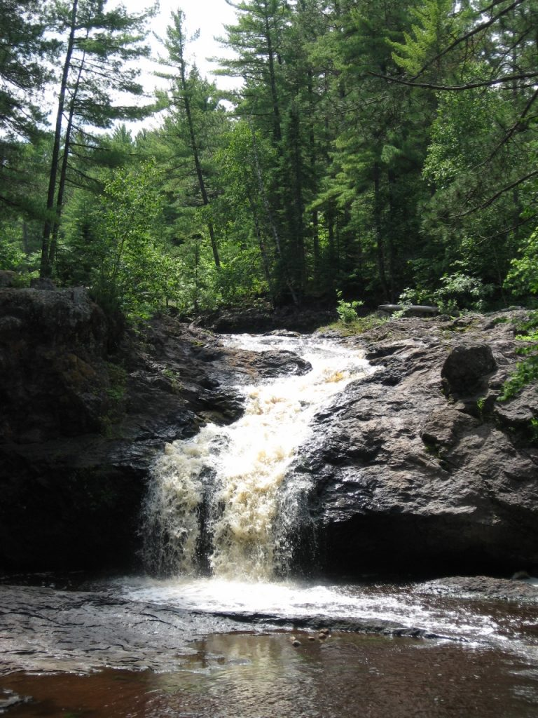 Amnicon State Park campground in northwest wi
