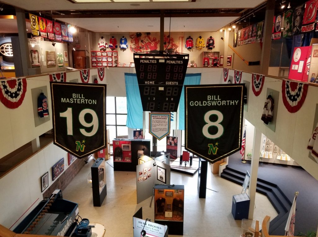 The inside of the US Hockey Hall of Fame