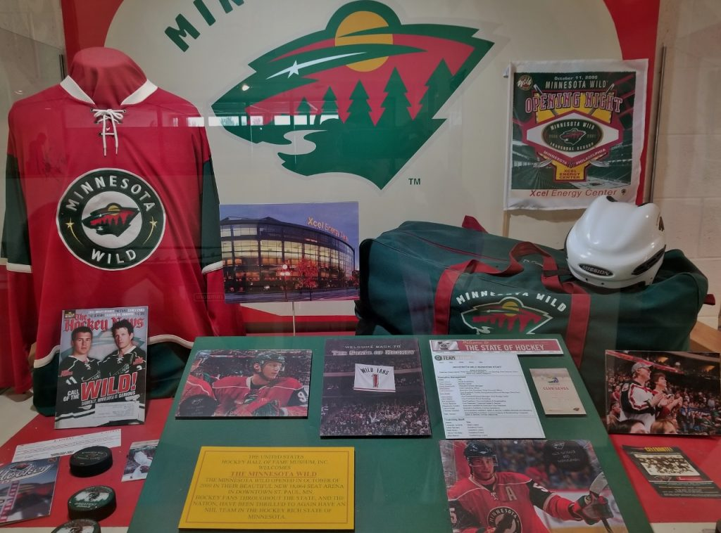 MN Wild display at the hockey hall of fame