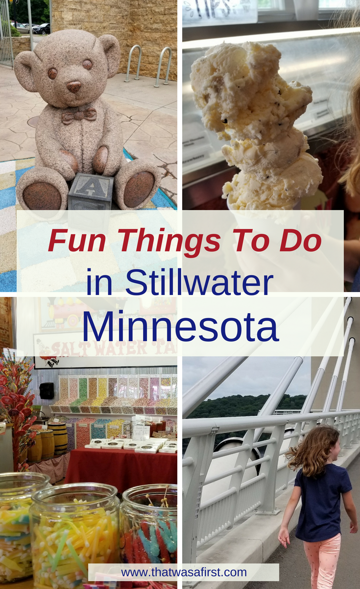 This is your guide to family fun and food in Stillwater, MN. Find out where the best playground is, who makes the biggest ice cream cones, and the best family friendly shops! #ThatWasAFirst #Minnesota #Stillwater #familytravel