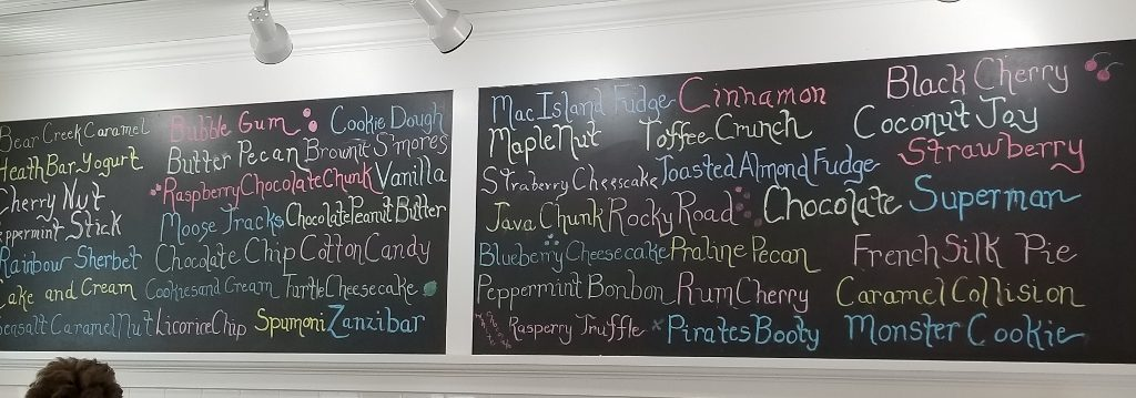 ice cream flavors at nelsons stillwater