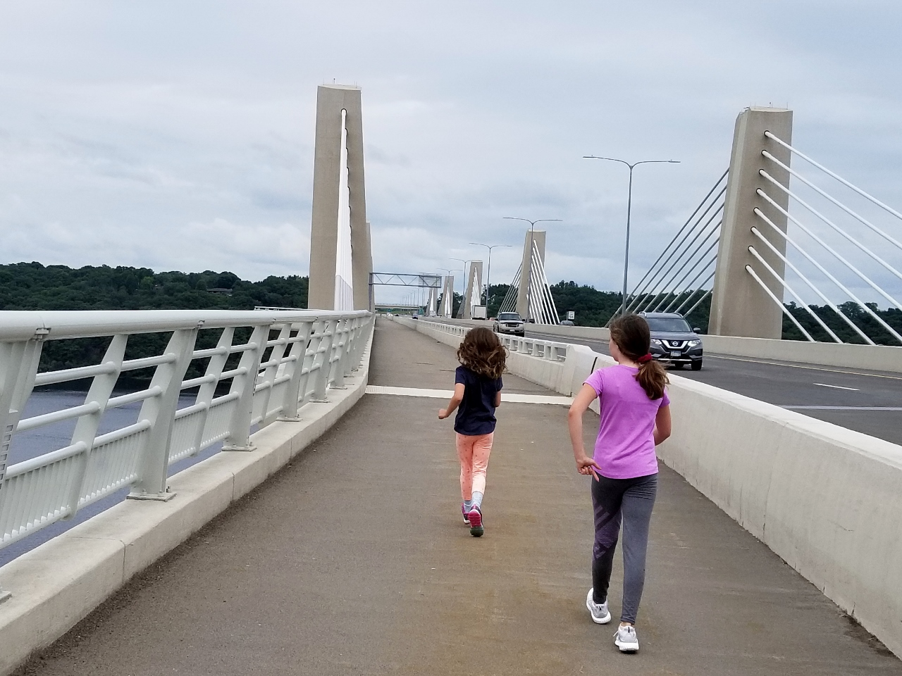 The walking lane on the bridge