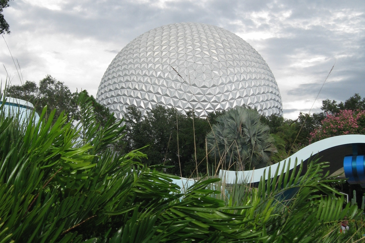 the ball at Epcot in Disney