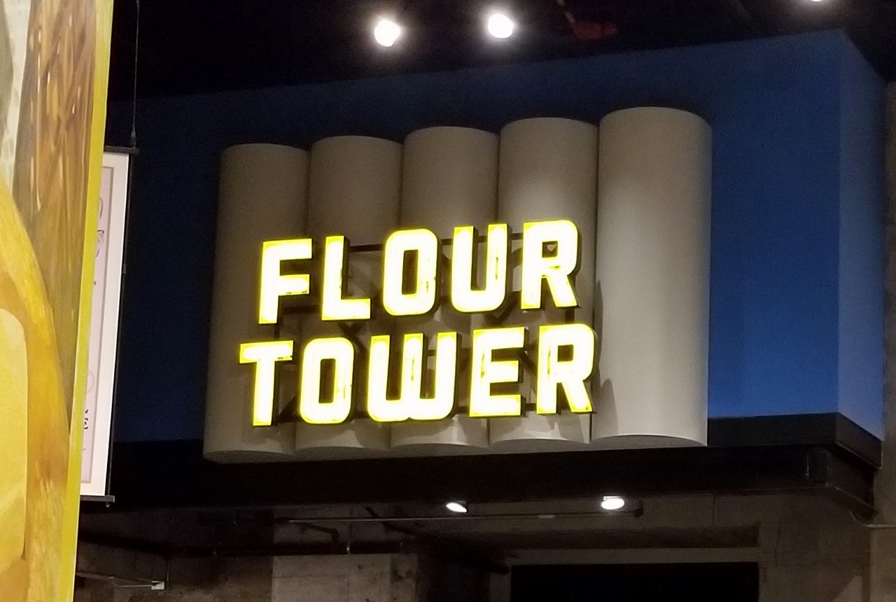 The flour tower at mill city museum