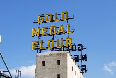 Gold medal flour sign at Mill City Museum