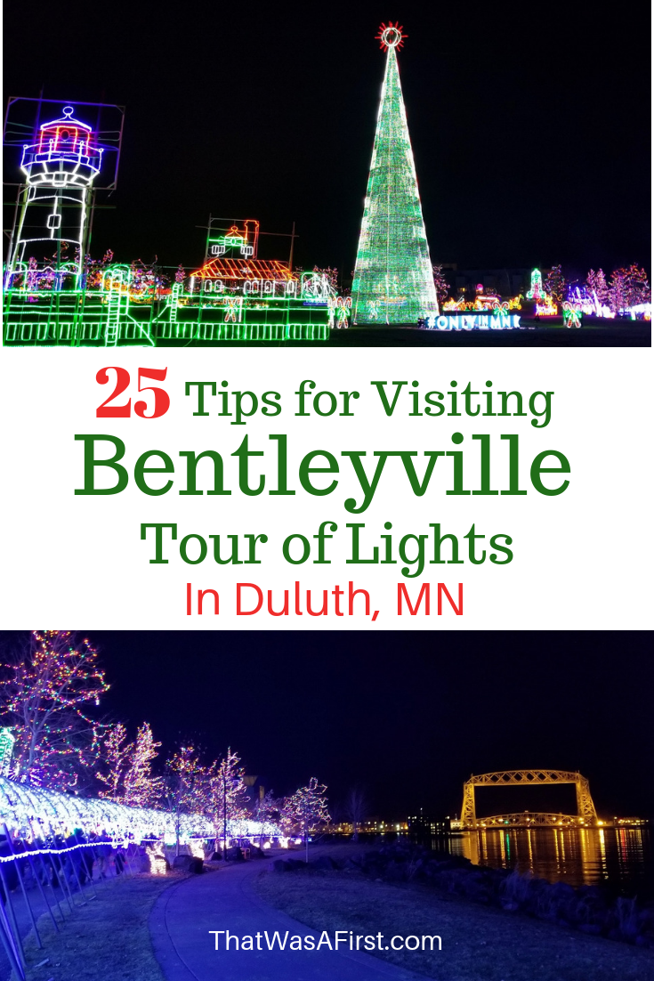 A holiday season in the upper midwest is not complete without a visit to Bentleyville in Duluth Minnesota! Here are 25 tips for your trip! #Duluth #Minnesota #thatwasafirst #holidaydisplays