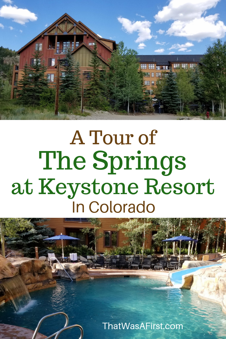 Read this to learn about The Springs condos at Keystone Resort in Colorado.  The Springs is very family friendly, in a great location, and has a fun pool area! #Colorado #Keystone #Skiresorts #Thatwasafirst